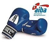 Greenhill Boxing Gloves Tiger Aiba (Blue, 12 OZ)