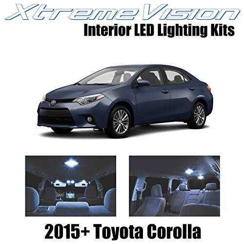 Xtremevision Interior LED for Toyota Corolla 2015+ (6 Pieces) Cool White Interior LED Kit + Installation Tool