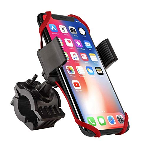 KENUX Bicycle Mobile Phone Holder for 3.5-6.5 Inch Smartphone 360° Rotating Ball Head Universal Use for iPhone 12/Mini/Pro Max/11/XR/XS/X/8/7 Samsung S10/S9/S8 Smartphone