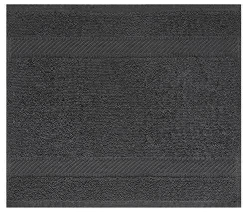 Betz Lavette Serviette débarbouillette Taille 30x30 cm 100% Coton Palermo Plusieurs Couleurs au Choix Couleur Anthracite