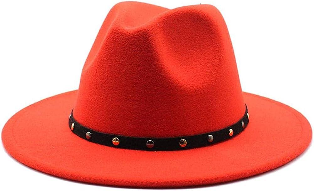 Women's and Men's Popular brand Fedora Hat Classic Elegant Regular dealer Brim Wo Panama Wide