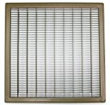 20' X 12' Floor Grille - Fixed Blades Return Air Grill - Brown [Outer Dimensions: 21.75 X 13.75]