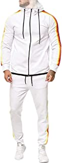Mens Hoodie Jacket Sweatpants 2 Pieces Sports Running Tracksuit