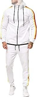 Mens Hoodie Jacket Sweatpants 2 Pieces Sports Running Tracksuit