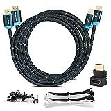 MutecPower 2 Piezas 3m Cable HDMI 2.0 - Cable de Alta Velocidad con Ethernet Soportes Ultra HD 3D 4Kx2K/60HZ y 2160p/Full HD 1080p - 30 AWG - ARC/CEC - Cable Triple blindado - 3 Metros Negro