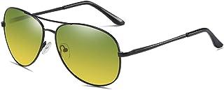 [FREESE] 偏光 サングラス ティアドロップ メンズサングラス クラシックデザイン UVカット クロス&メガネケース