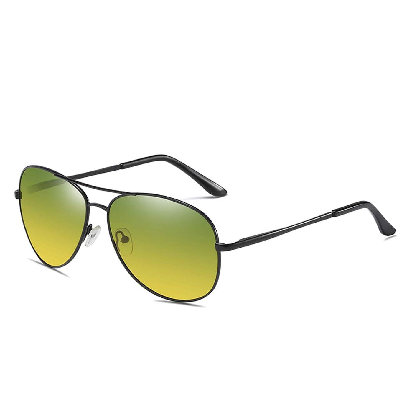 評判猟犬グリース[FREESE] 偏光 サングラス ティアドロップ メンズサングラス クラシックデザイン UVカット クロス&メガネケース
