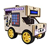 KEYESTUDIO Smart Home RV Robot Car for Arduino, A Mini Camper Van Electrical System/Motorhome/Touring Carvan Model for Learning Programing, Home Automation, STEM & Creativity