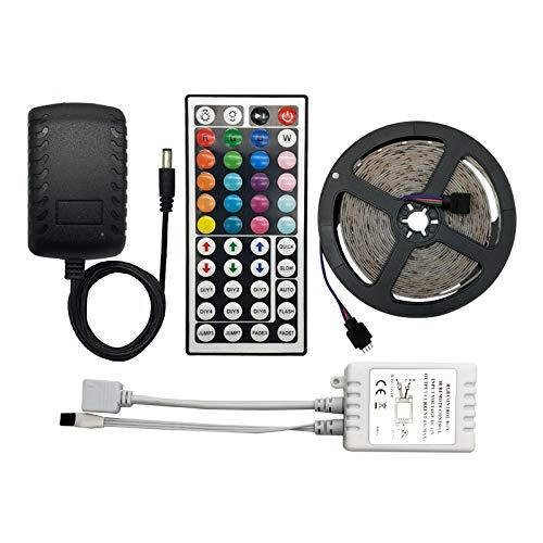 HVTKL Ledcontroller 44 key infrarood RGB LED controller LED dimmer infrarood afstandsbediening 12V 5 yards RGB SMD 2835 LED-lichtbalk HVTKL (Color : Non Waterproof)