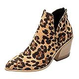 Luckycat Botines Mujer Tacon Cuero PU Tobillo Botas Piel Ankle Boots 8 Cm Cremallera Moda Comodos Verano Primavera 2019 Invierno Mujer Botines Tacon Alto Plataforma Zapatos Botas Martin
