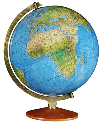 Replogle Odessa - Blue Ocean 2-Way Map, Illuminated World Globe, Raised Relief, Up-to-Date Cartography, Made in USA(12'/30cm Diameter)