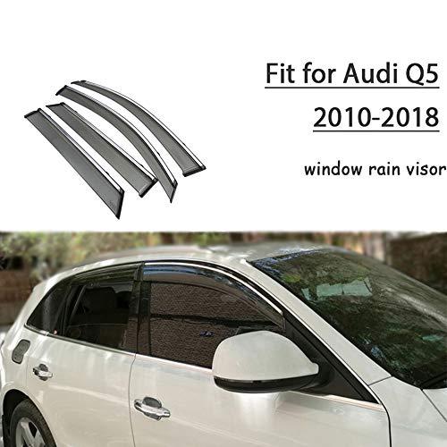 Piaobaige Protector Deflector De Visera De Lluvia Y Sol para Ventana De Coche Abs para Audi Q5 2010 2018