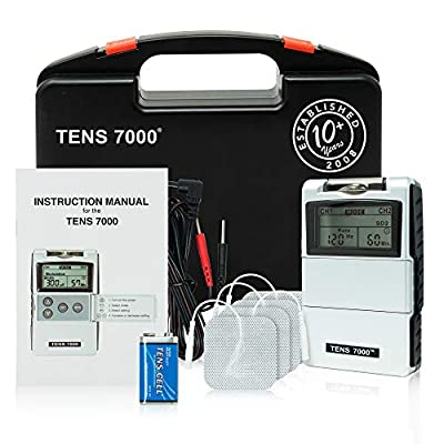 TENS 7000 2nd Edition Digital TENS Unit with Accessories by Roscoe Medical