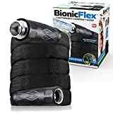 BIONIC FLEX 7216 Heavy Duty Lawn Commercial Grade Lightweight, Drag Resistant, Kink Free Reinforced Garden Hose As Seen on TV, Black, 75'