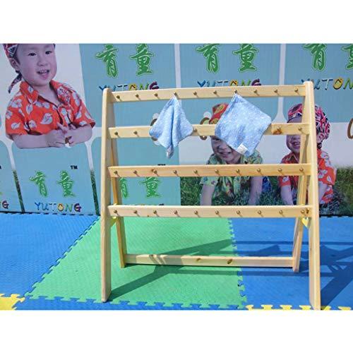Handdoekenrek - Vloerhanddoek Rack Houten Handdoekenrek Multifunctioneel Voor School Peuter Handdoekenrek
