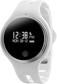 Smart Watch Plastic Band For Android & iOS,White - E07