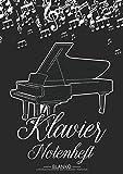 Klavier Notenheft Blanko: Notenheft DIN A4 Mit 110 Seiten - Notenpapier für Kinder und Erwachsene, Notenblock, Musikheft, Notenbuch,...