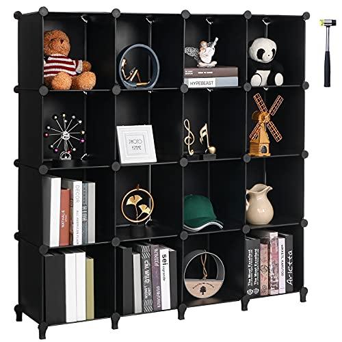 Anwwide LCS016B - Organizer a forma di cubo con 16 cubi per armadio Libreria Libreria per Bambini...
