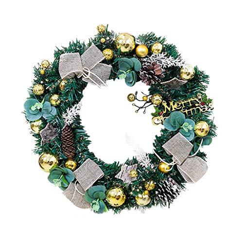 Weihnachtsgirlande, Künstlicher Kranz Türkranz Girlande Dekokranz Wandkranz Kränze Weihnachtskranz Hängend Weihnachtsdekoration für Deko, Weihnachten, Advent, als Stimmungslicht, Türkranz (B)