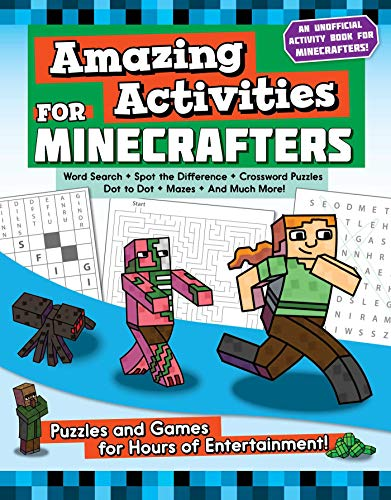 Product Image of the Amazing Activities for Minecrafters: Puzzles and Games for Hours of...