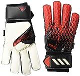 adidas Unisex-Adult 20 Match Fingersave Goalie Predator Gloves, Black/Red, 10