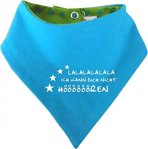 KLEINER FRATZ KLEINER FRATZ Kinder Wendehalstuch Sternchen (Farbe lime-royal) (Gr. 1 (0-74) Lalalalalalala ich kann dich nicht hören