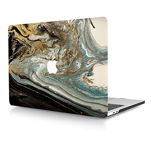 AJYX MacBook Pro 15 inch Case A1398 2015 2014 2013 2012 Release Smooth Touch Plastic Protective Shell Laptop Hard Cover Only Compatible with MacBook Pro 15' with Retina Display, Black & Gold Marble