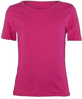 Papaval Kids Plain Basic Top Short Cap Sleeve Girls Boys T-Shirt Tops Crew Uniform