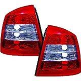 In. pro. 1805596HD–Faros traseros para Opel Astra G, diseño Año: 97–04, Klarglas, Rojo y Blanco
