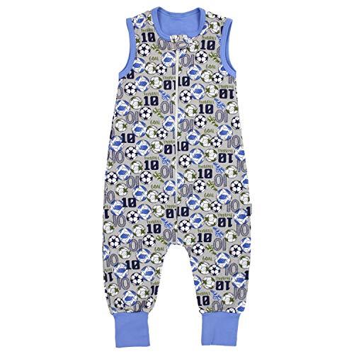 TupTam Unisex Babyschlafsack mit Beinen Unwattiert, Farbe: Bälle/Grau Meliert, Größe: 80-86