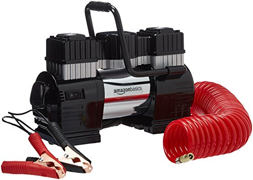 Product Image of the Amazon Basics Portable Air Compressor, Dual Battery Clamps with Carrying Case