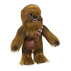 The Star Wars Ultimate co-pilot Chewie interactive plush toy, brought to life by the FurReal brand, is the ultimate sidekick for kids who love imagining their own intergalactic adventures He reacts whenever he's in motion, and responds in the Wookiee...
