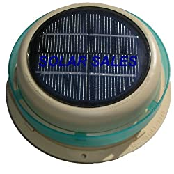 Round solar powered RV roof vent