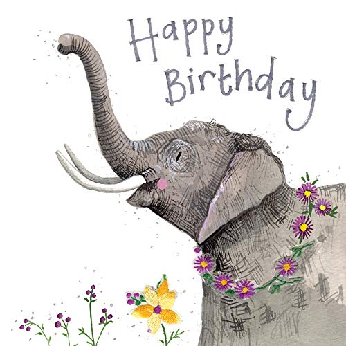 Alex Clark - Tarjeta de felicitación de cumpleaños con elefante