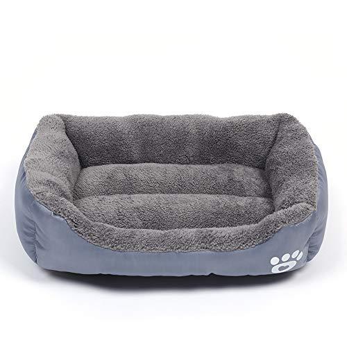 J Haustierbett mittelgroß 66x50cm ist für kleine und mittlere Haustiere geeignet (abnehmbare und waschbare Tagesdecke)
