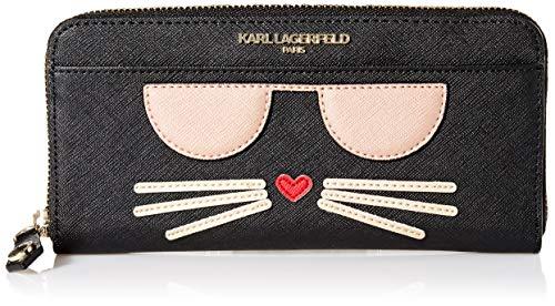 Karl Lagerfeld Paris Damen CHOUPETTE Wallet Geldbörse, schwarz/Gold, Einheitsgröße