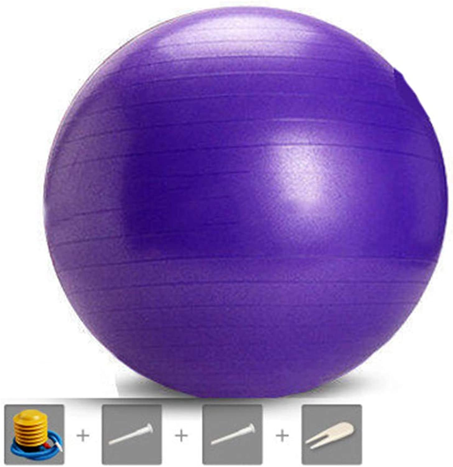 Yoga Ball Beginner Indoor Professional Pregnant Women Midwifery Fitness Ball Environmentally Friendly Material Thickened Explosion-Proof Matte Slip 65 cm Purple