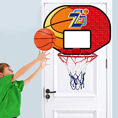 Teakpeak Basketball Korb für Kinder Indoor, Basketballkorb Fahrbar Mini Basketballkorb fürs Zimmer mit Ball