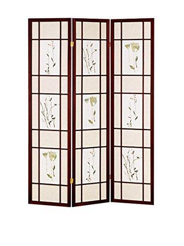 ORE Furniture International 3-Panel Shoji Screen, Cherry by ORE Furniture