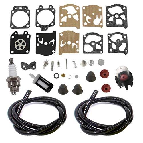 AISEN Carburetor Repair Rebuild Kit for FS36 FS40 FS44 FS44R FS50 FS50C FS56 FS70 FS70C FC56 FC70 HT56C KM56C KN56RC Trimmers Grommet Fuel Line Filter Spark Plug