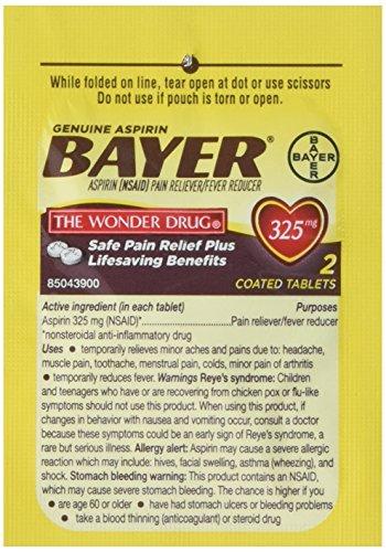 Aspirin, Tablet, 50 x 2, Packet, 325mg