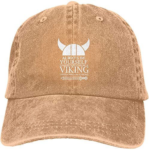Rjsgdfjhs Always Be Yourself Unless You Can Be A Viking Classic Adjustable Denim Cap Baseball Cap Hats for Women & Men