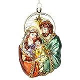 Qirun Colgante de la familia de la Navidad para el árbol de Navidad Casa de la iglesia Decoración de