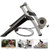 QXT Entrenador de Bicicleta magnética Bike Turbo Trainer Marco de Acero del Soporte de Ejercicio estacionario de Interior, Resistencia magnética