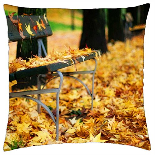 Amber Autumn Leaves–Throw Pillow Cover Case (18