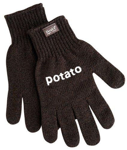 Aardappel schrobhandschoenen - Skrub'a - waarom schillen als je kunt schrobben! Gemakkelijk, veilig, gezond