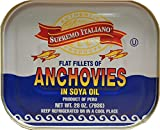 1.74 lbs of Anchovies Fillets, Packed in Soya Oil and Salt, Product of Peru