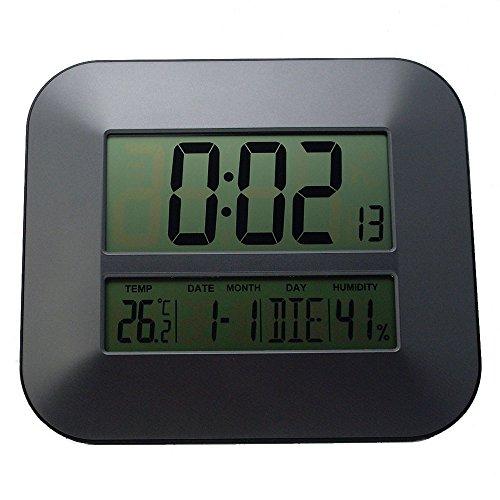 hhxiao Sveglia Digitale Orologio da Parete Digitale Radio Controlled Time Rcc con termometro di Temperatura Frequenza Hygrometer/Decorative Table Alarm Clock
