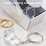 Clear Diamond Collection diamond design keyring