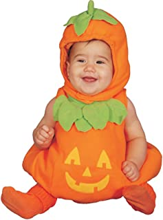 Dress-Up-America Baby Pumpkin Costume – Adorable Halloween Jack-O-Lantern Costume For Toddlers
